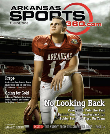 casey dick on the cover of arkansas sports 360