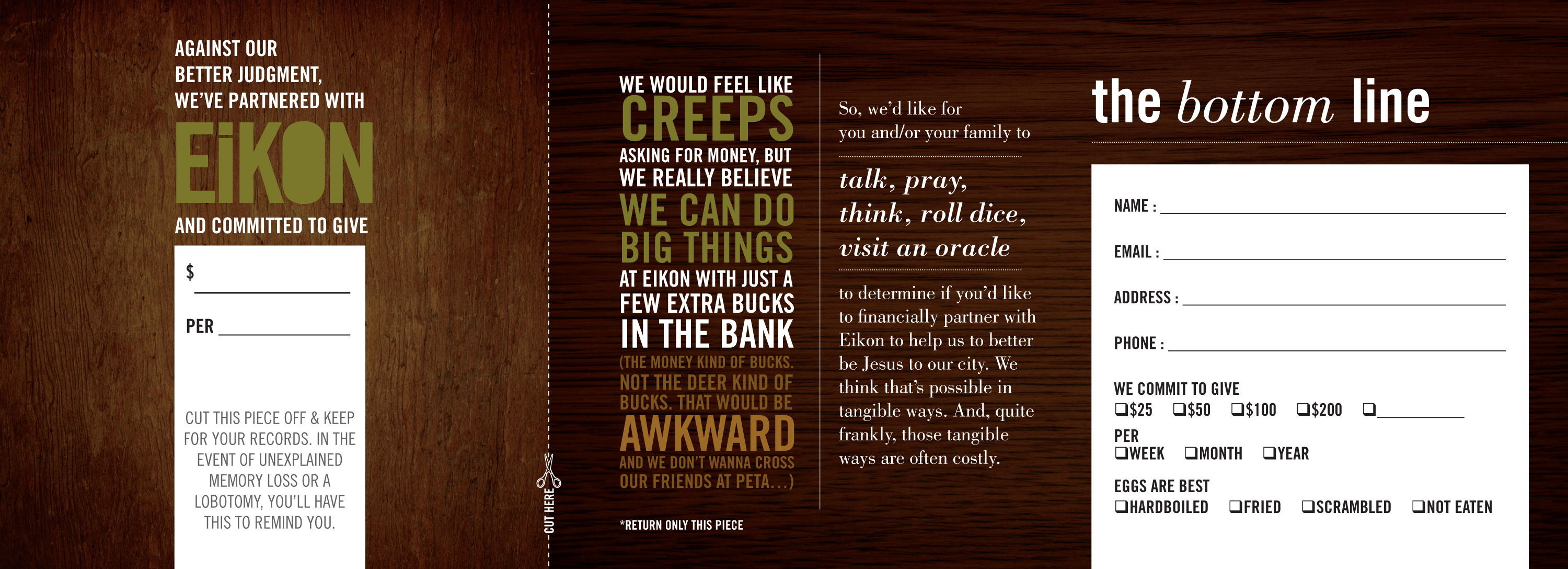 the weirdest (free, downloadable) church pledge card you might Within Fundraising Pledge Card Template